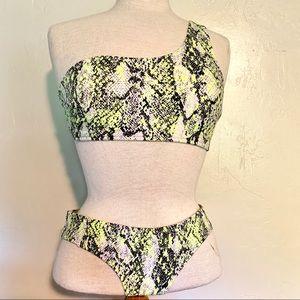 Neon snake skin bikini